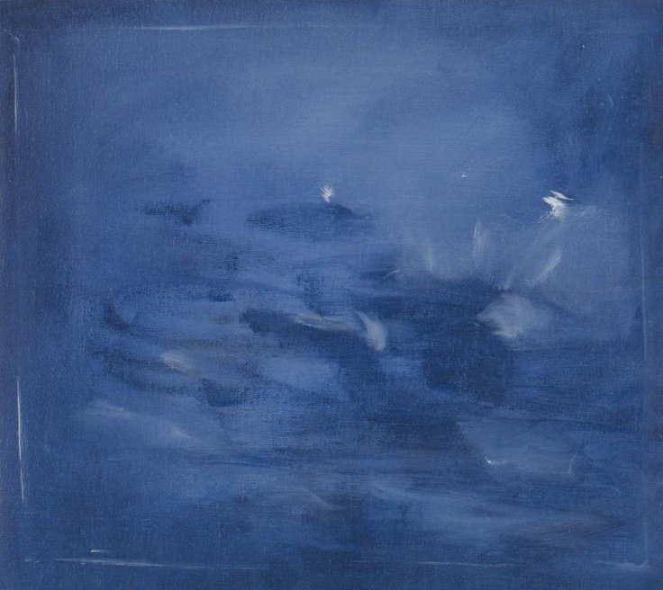 """<div class=""""artist""""><strong>Briony Anderson</strong></div> <div class=""""title""""><em>Dark Pool</em>, 2013</div> <div class=""""medium"""">Oil on canvas</div> <div class=""""dimensions"""">19 x 22 cm<br />7 1/2 x 8 5/8 in</div>"""
