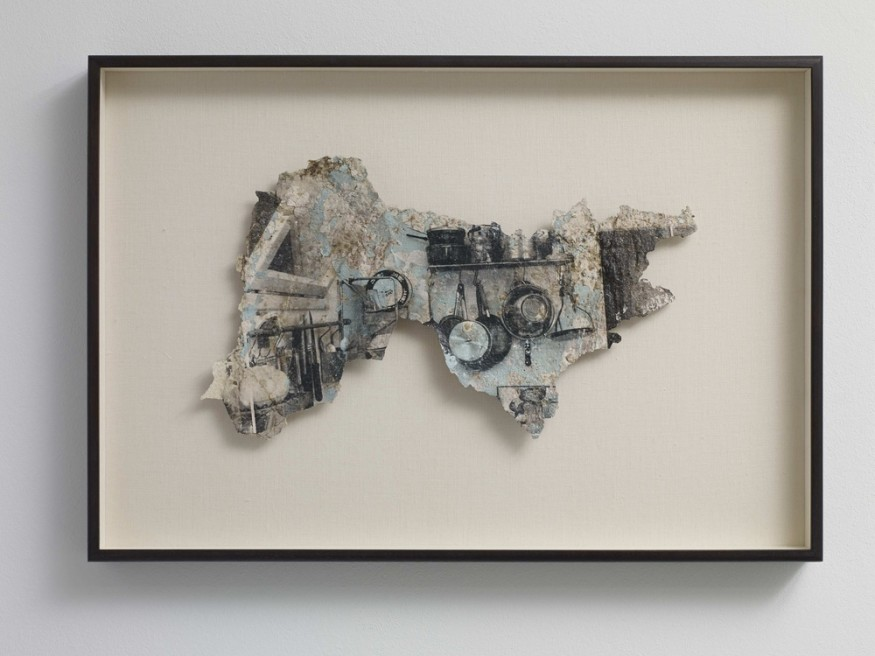"<div class=""artist""><strong>Steve Sabella</strong></div> <div class=""title""><em>38 days of re-collection</em>, 2013</div> <div class=""medium"">Black & White Photo Emulsion on Paint Fragments collected from Jerusalem's Old City</div> <div class=""dimensions"">46 x 27 cm</div>"