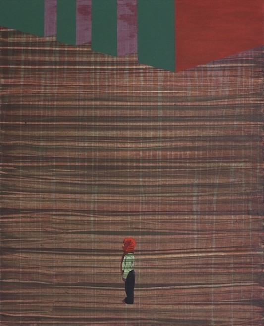 "<div class=""artist""><strong>Hani Zurob</strong></div> <div class=""title""><em>Waiting #02</em>, 2010</div> <div class=""medium"">Acrylic and Pigments on Canvas</div> <div class=""dimensions"">81x65cm</div>"