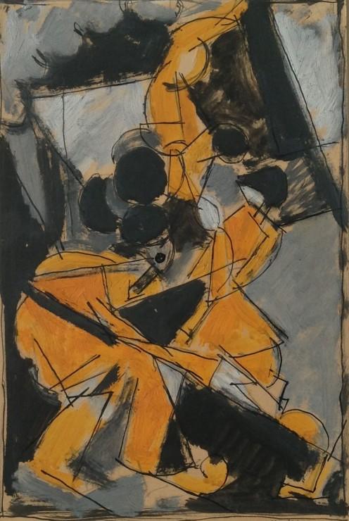 """<span class=""""artist""""><strong>Albert Gleizes</strong></span>, <span class=""""title""""><em>Composition avec trois personnages: les acrobates</em>, 1916</span>"""