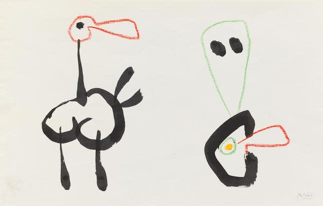 "<span class=""artist""><strong>Joan Miró</strong></span>, <span class=""title""><em>Sans titre. Projet pour 'Ubu Roi' </em>, 1953</span>"