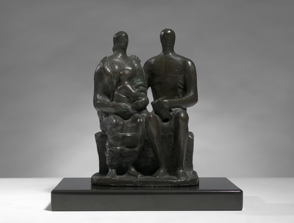 """<span class=""""artist""""><strong>Henry Moore</strong></span>, <span class=""""title""""><em>Family Group</em>, 1956</span>"""