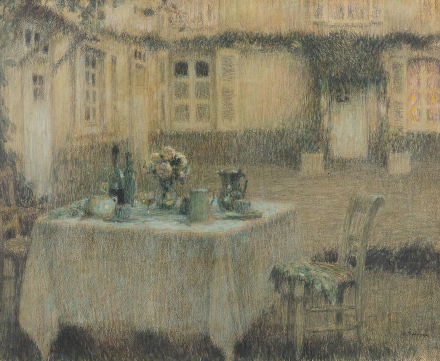"<span class=""artist""><strong>Henri Le Sidaner</strong></span>, <span class=""title""><em>La Table, Gerberoy</em>, 1910</span>"