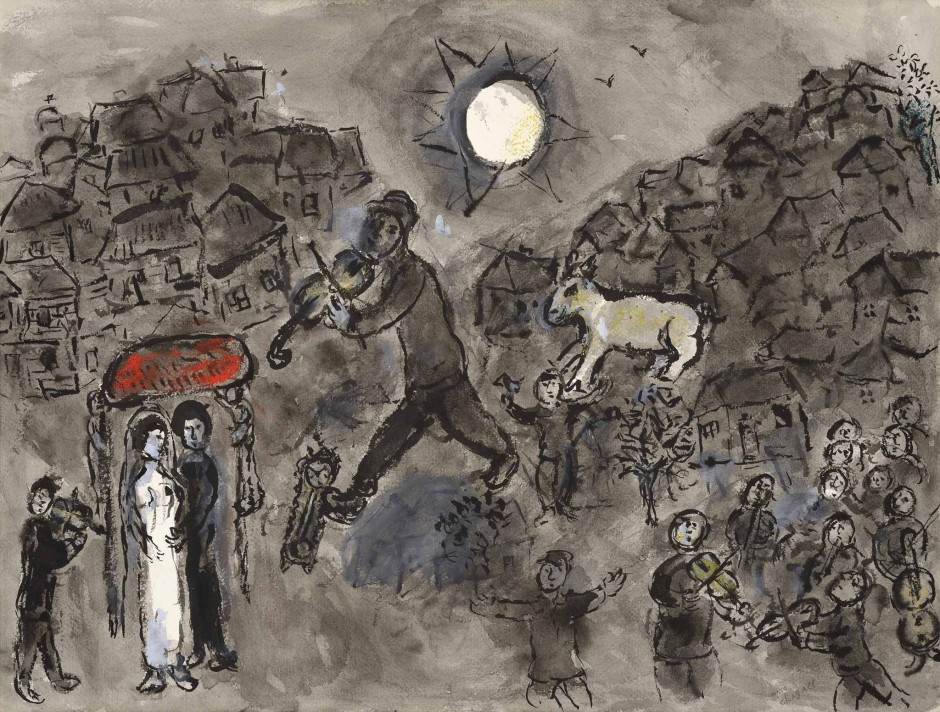 <span class=&#34;artist&#34;><strong>Marc Chagall</strong></span>, <span class=&#34;title&#34;><em>Le violiniste du mariage</em>, c.1975</span>