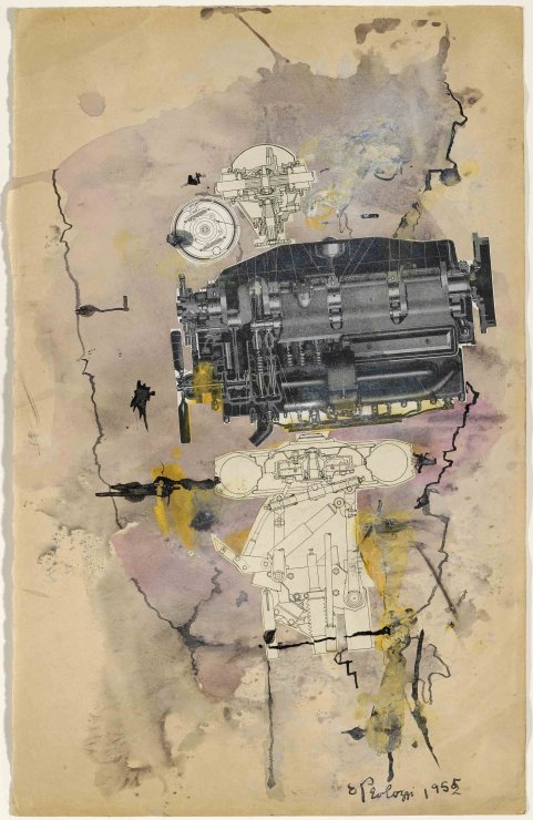 "<span class=""artist""><strong>Eduardo Paolozzi</strong></span>, <span class=""title""><em>Machine Head</em>, 1952</span>"