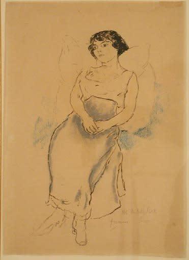 "<span class=""artist""><strong>Jules Pascin</strong></span>, <span class=""title""><em>Portrait de jeune fille</em>, 1908</span>"