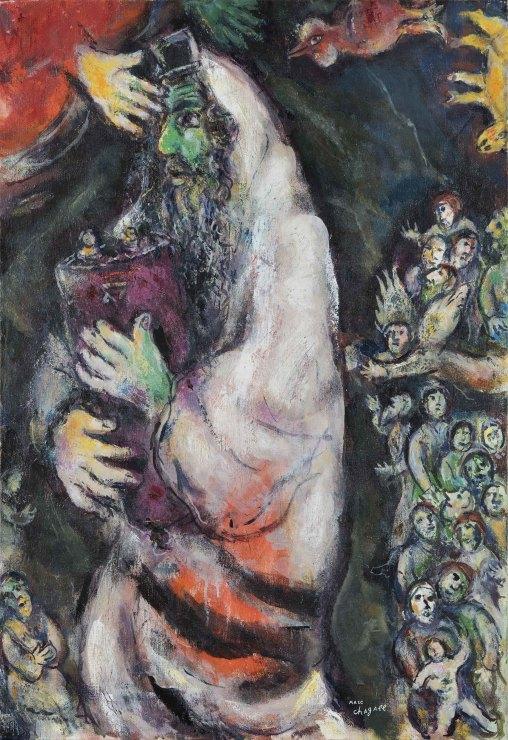 <span class=&#34;artist&#34;><strong>Marc Chagall</strong></span>, <span class=&#34;title&#34;><em>Juif au visage vert avec Thora ou Le proph&#232;te et l&#8217;ange</em>, 1967-68</span>