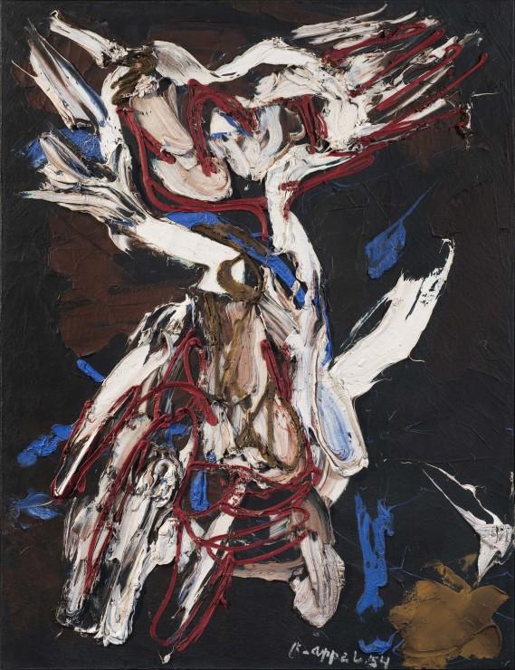 <span class=&#34;artist&#34;><strong>Karel Appel</strong></span>, <span class=&#34;title&#34;><em>Personnage dans la temp&#234;te</em>, 1954</span>