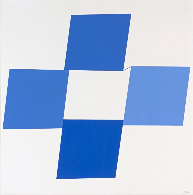"""<span class=""""artist""""><strong>Geneviève Claisse</strong></span>, <span class=""""title""""><em>Quark Bleu III</em>, 1976</span>"""