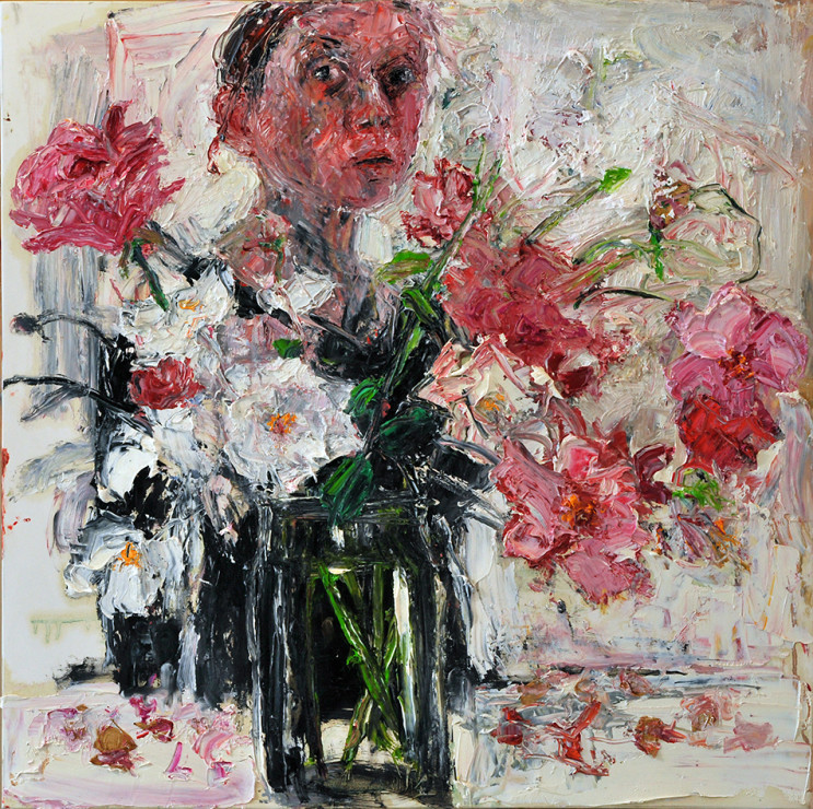 "<span class=""artist""><strong>Shani Rhys James</strong></span>, <span class=""title""><em>Roses in a Glass Jar</em>, 2017</span>"