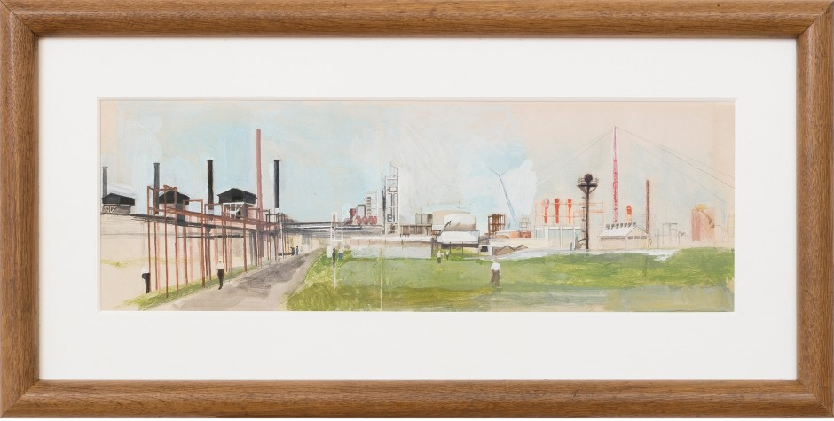 "<span class=""artist""><strong>Michael Andrews</strong></span>, <span class=""title""><em>Shell Chemicals, Carrington Plant, Cheshire</em>, 1953</span>"