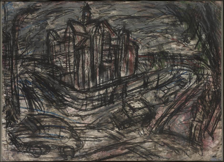 <span class=&#34;artist&#34;><strong>Leon Kossoff</strong></span>, <span class=&#34;title&#34;><em>School Building, Willesden I</em>, 1980</span>