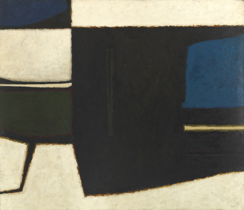 """<span class=""""artist""""><strong>Alan Reynolds</strong></span>, <span class=""""title""""><em>Forms - Blue, White, Green and Bronze</em>, 1961</span>"""