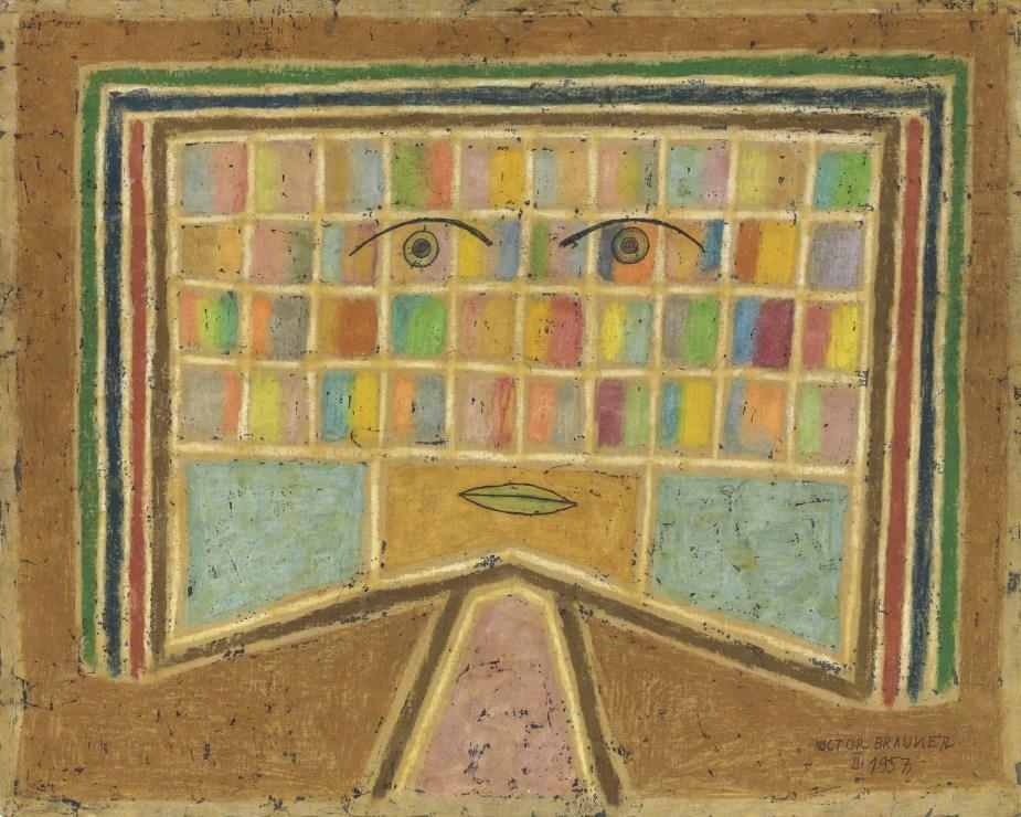 "<span class=""artist""><strong>Victor Brauner</strong></span>, <span class=""title""><em>L'archéologue</em>, 1957</span>"