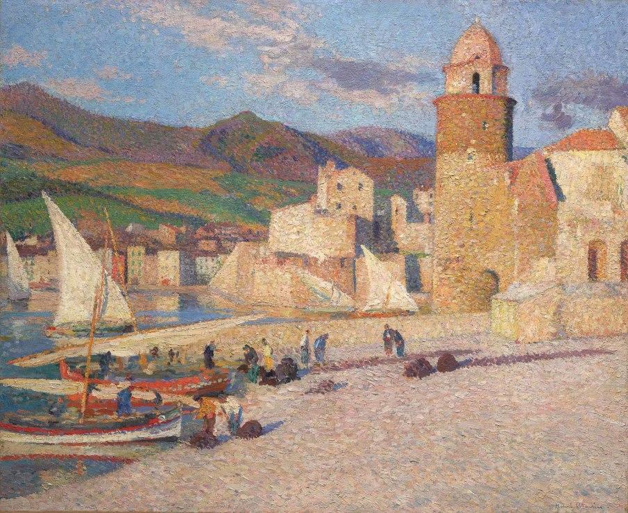 """<span class=""""artist""""><strong>Henri Martin</strong></span>, <span class=""""title""""><em>La Tour de Collioure</em>, c.1920</span>"""