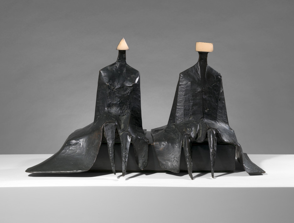 """<span class=""""artist""""><strong>Lynn Chadwick</strong></span>, <span class=""""title""""><em>Sitting Figures in Robes I</em>, 1980</span>"""