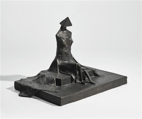 "<span class=""artist""><strong>Lynn Chadwick</strong></span>, <span class=""title""><em>Sitting Woman in Robes II</em>, 1987</span>"