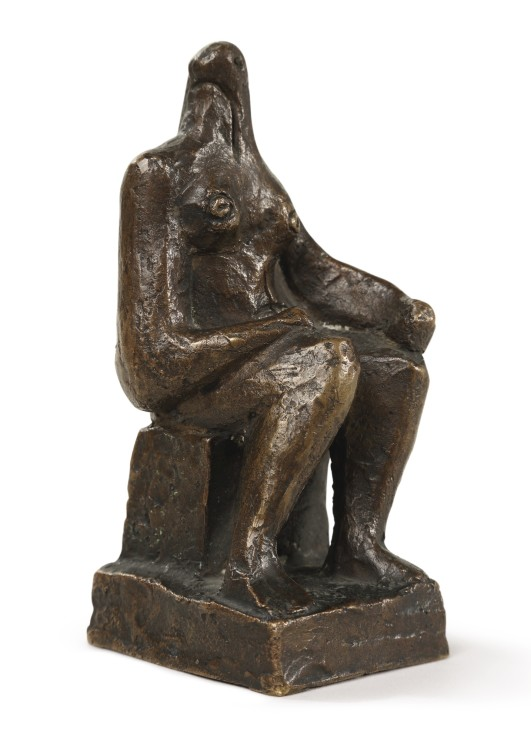 "<span class=""artist""><strong>Henry Moore</strong></span>, <span class=""title""><em>Small Seated Figure</em>, 1936</span>"