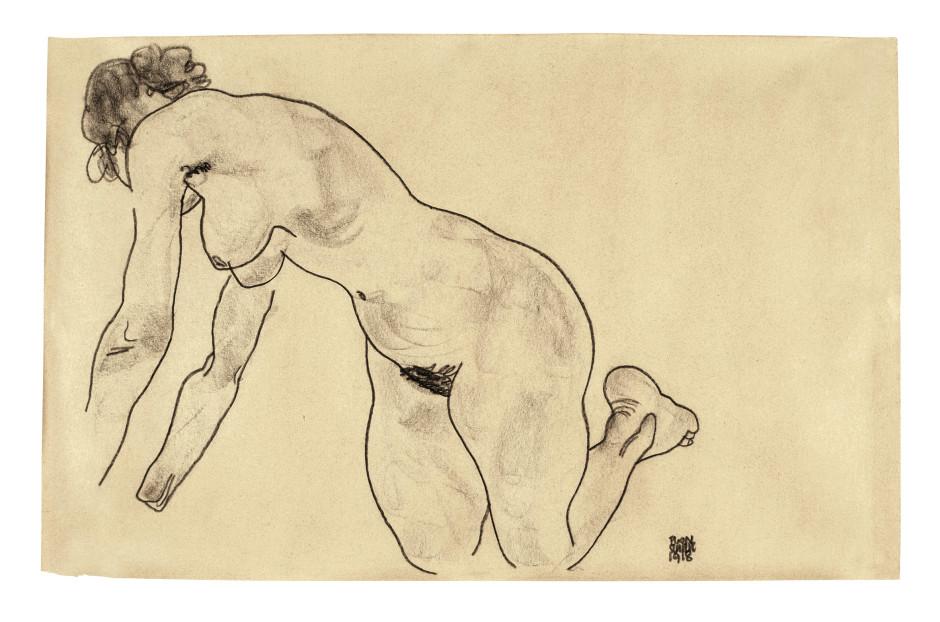<span class=&#34;artist&#34;><strong>Egon Schiele</strong></span>, <span class=&#34;title&#34;><em>Crouching Female Nude</em>, 1918</span>