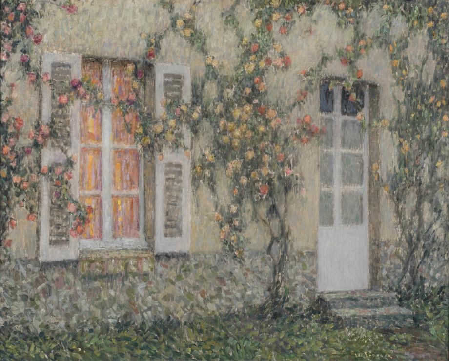 """<span class=""""artist""""><strong>Henri Le Sidaner</strong></span>, <span class=""""title""""><em>La maison aux roses, Versailles</em>, c.1931 - 1936</span>"""
