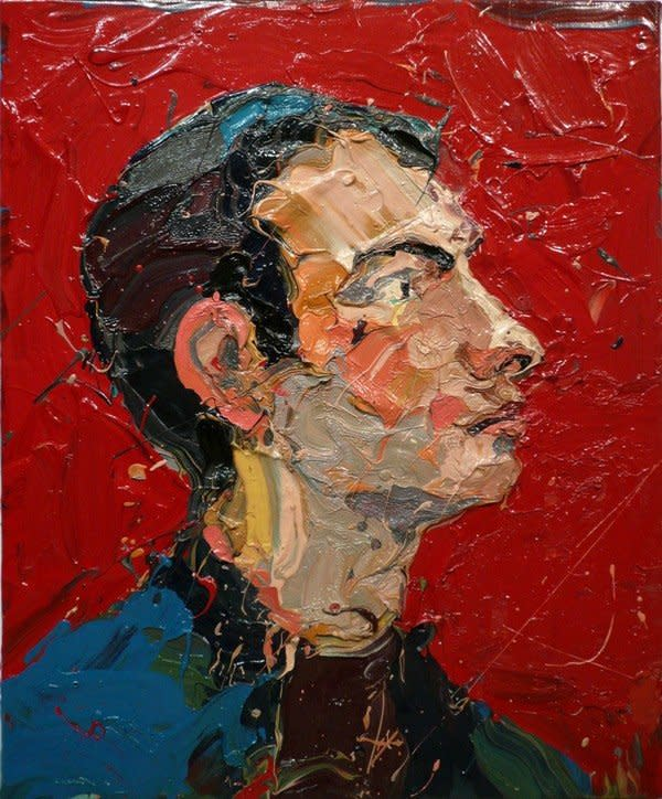 "<span class=""artist""><strong>Paul Richards</strong></span>, <span class=""title""><em>Will with red background</em>, 2007</span>"
