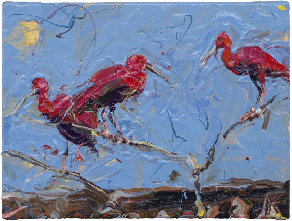"<span class=""artist""><strong>Paul Richards</strong></span>, <span class=""title""><em>Three Red Birds</em>, 2010</span>"