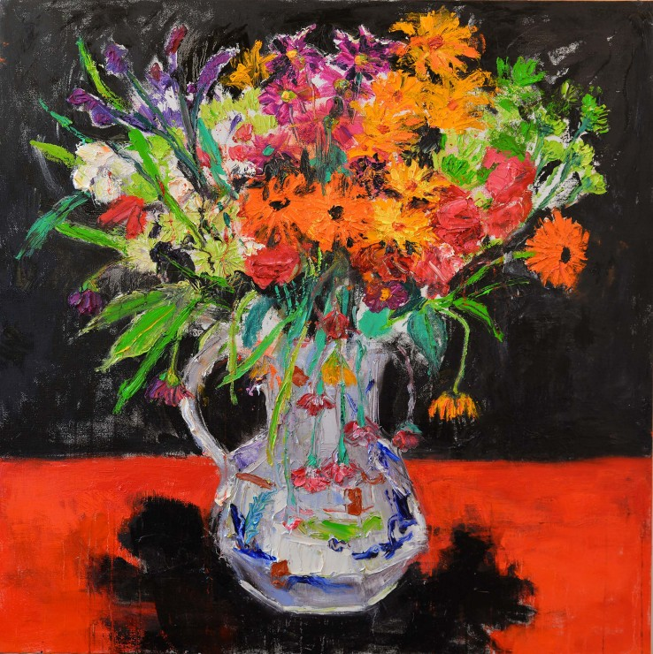 """<span class=""""artist""""><strong>Shani Rhys James</strong></span>, <span class=""""title""""><em>Shadow on a Red Table</em>, 2018</span>"""