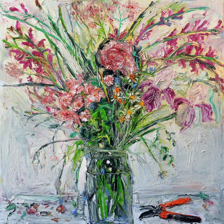 "<span class=""artist""><strong>Shani Rhys James</strong></span>, <span class=""title""><em>Bouquet and Secateurs</em>, 2017</span>"