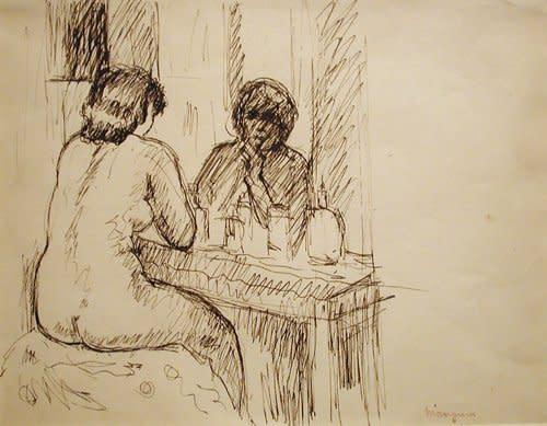 """<span class=""""artist""""><strong>Henri Manguin</strong></span>, <span class=""""title""""><em>Le Modèle Monique</em>, 1938</span>"""