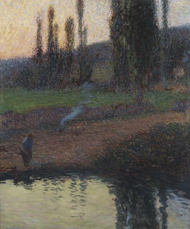 """<span class=""""artist""""><strong>Henri Martin</strong></span>, <span class=""""title""""><em>Femme au Bord d'une Rivière</em></span>"""