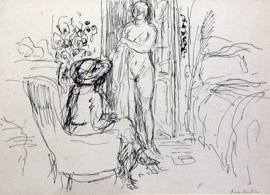 """<span class=""""artist""""><strong>Albert Andre</strong></span>, <span class=""""title""""><em>Nu dans un interieur</em></span>"""