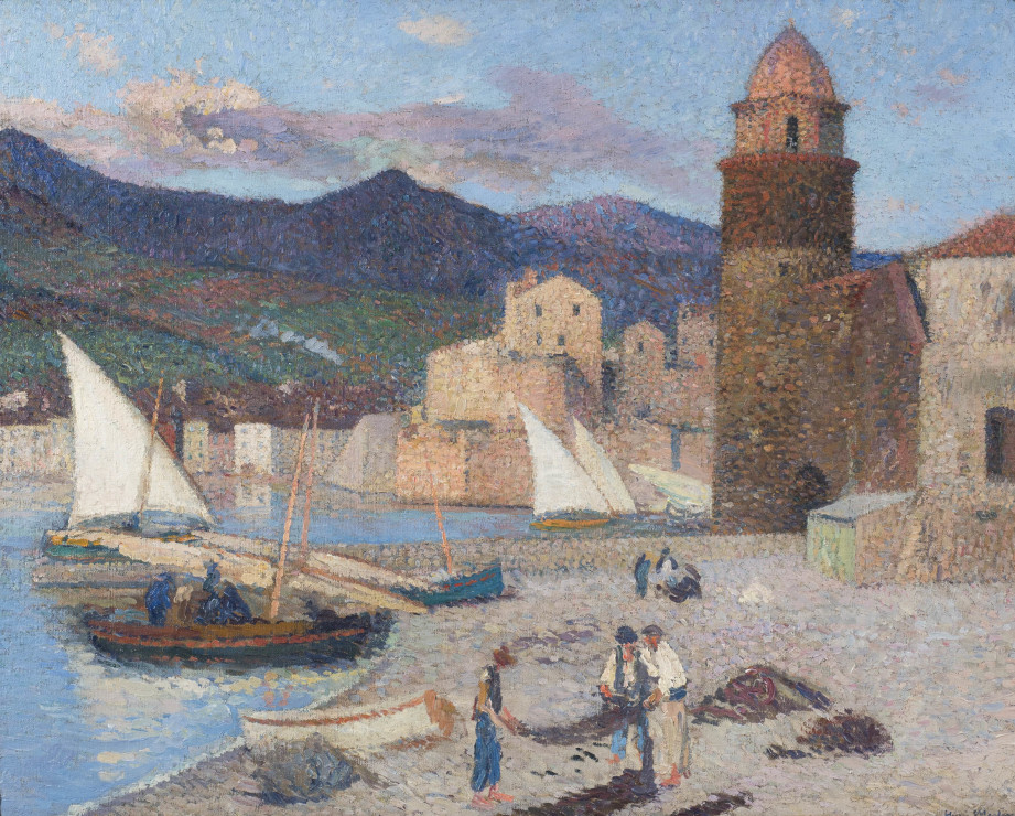 "<span class=""artist""><strong>Henri Martin</strong></span>, <span class=""title""><em>Collioure, le port de séchage</em>, 1920</span>"