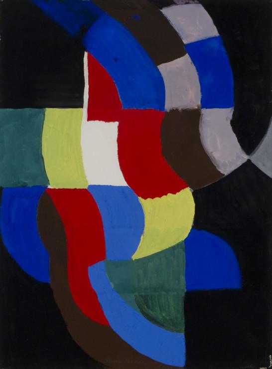 "<span class=""artist""><strong>Sonia Delaunay</strong></span>, <span class=""title""><em>Rythme coloré</em>, 1959</span>"