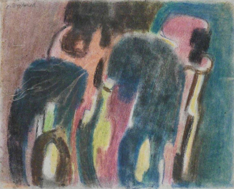 "<span class=""artist""><strong>Jacob Bornfriend</strong></span>, <span class=""title""><em>Composition with figures</em></span>"