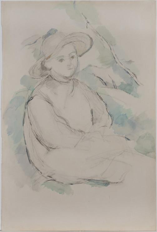 <span class=&#34;artist&#34;><strong>Paul Cezanne</strong></span>, <span class=&#34;title&#34;><em>L&#8217;Enfant au Chapeau de Paille / Bords du Lac d&#8217;Annecy (verso)</em>, 1896</span>