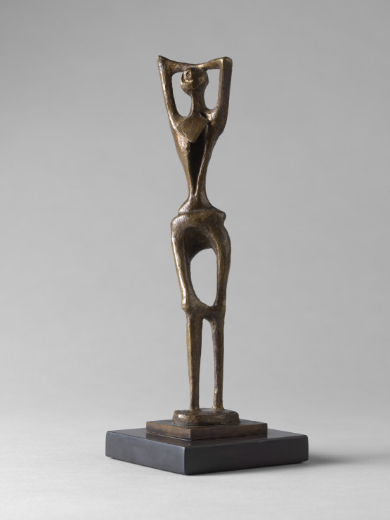 """<span class=""""artist""""><strong>Henry Moore</strong></span>, <span class=""""title""""><em>Standing Figure No. 1</em>, 1952</span>"""