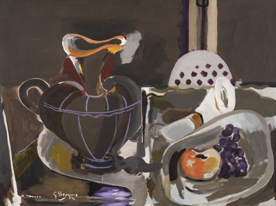 "<span class=""artist""><strong>Georges Braque</strong></span>, <span class=""title""><em>Nature morte à la grande cruche</em>, 1955</span>"