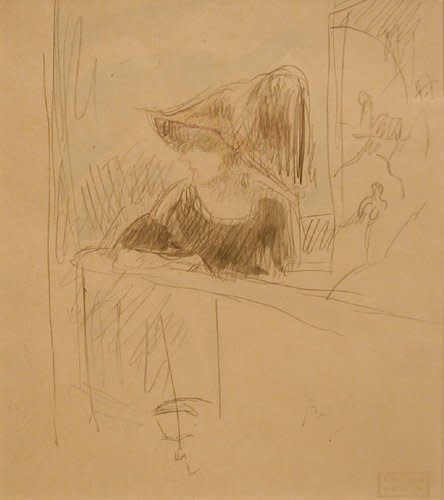 "<span class=""artist""><strong>Jules Pascin</strong></span>, <span class=""title""><em>Girl at the bar</em>, 1918</span>"
