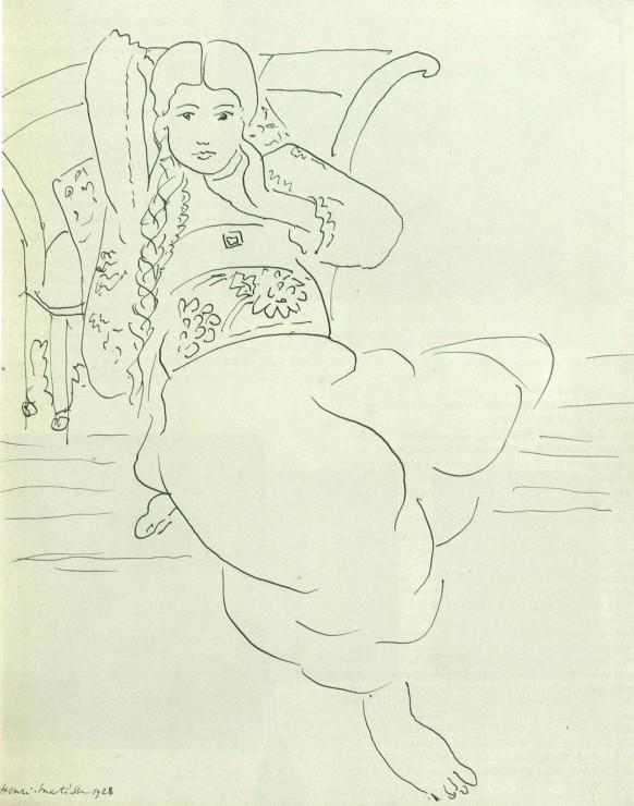 """<span class=""""artist""""><strong>Henri Matisse</strong></span>, <span class=""""title""""><em>Odalisque</em>, 1928</span>"""