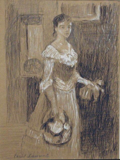 "<span class=""artist""><strong>Ernest Laurent</strong></span>, <span class=""title""><em>Jeune fille</em>, c. 1904</span>"