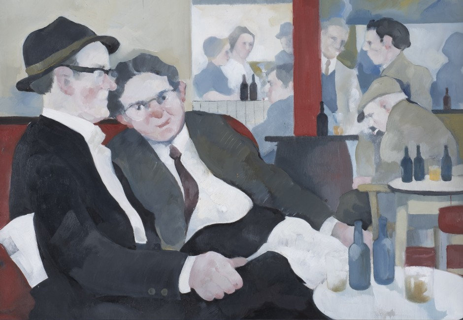 """<span class=""""artist""""><strong>Eric Tucker</strong></span>, <span class=""""title""""><em>Two Gents - Confidential Chat</em></span>"""