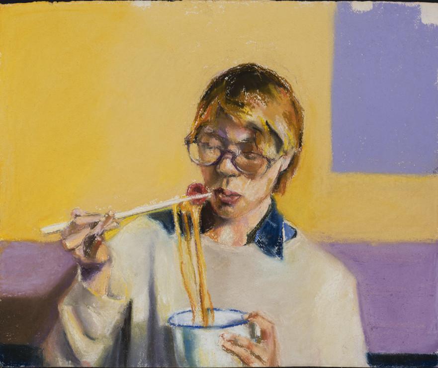 "<span class=""artist""><strong>Paul Richards</strong></span>, <span class=""title""><em>Noodles Eater</em>, 2019</span>"