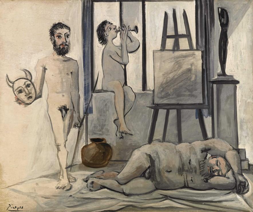 <span class=&#34;artist&#34;><strong>Pablo Picasso</strong></span>, <span class=&#34;title&#34;><em>Nus Masculins (Les trois &#226;ges de l&#8217;homme)</em>, 1942</span>