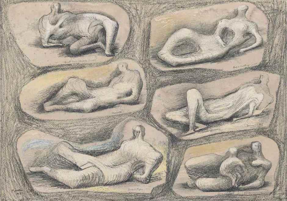 <span class=&#34;artist&#34;><strong>Henry Moore</strong></span>, <span class=&#34;title&#34;><em>Reclining figures</em>, 1943</span>