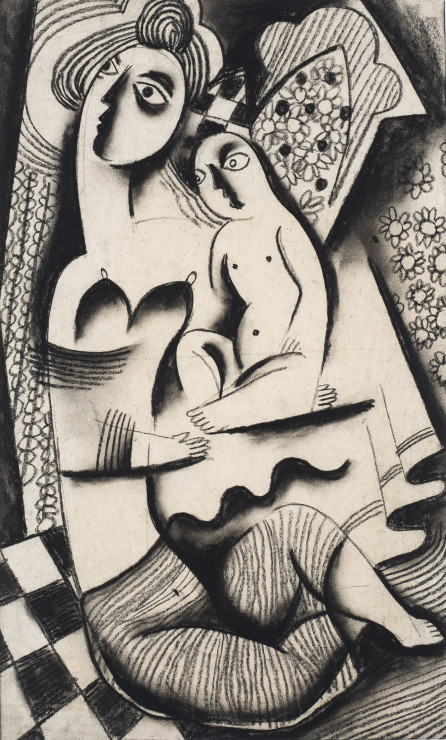"<p><span class=""artist""><strong>Béla Kadar</strong></span>, <span class=""title""><em>Mother and Child</em>, c. 1923-24</span></p>"