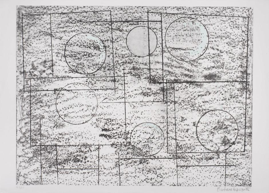 "<span class=""artist""><strong>Barbara Hepworth</strong></span>, <span class=""title""><em>Squares and Circles</em>, 1969</span>"
