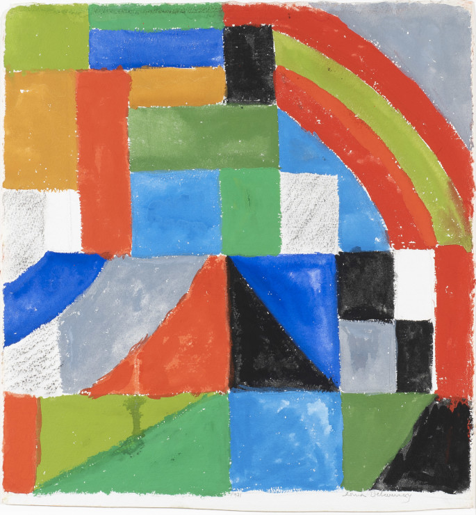 "<span class=""artist""><strong>Sonia Delaunay</strong></span>, <span class=""title""><em>Rythme couleur</em>, 1962</span>"