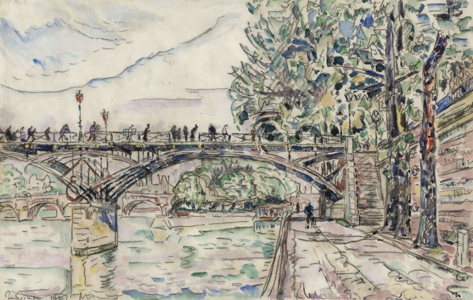 "<span class=""artist""><strong>Paul Signac</strong></span>, <span class=""title""><em>Paris. Le Pont des Arts</em>, 1927</span>"