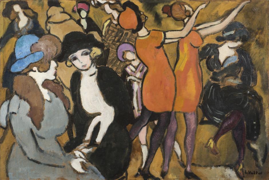 """<span class=""""artist""""><strong>Louis Valtat</strong></span>, <span class=""""title""""><em>Les élégantes au salon</em>, c.1918</span>"""