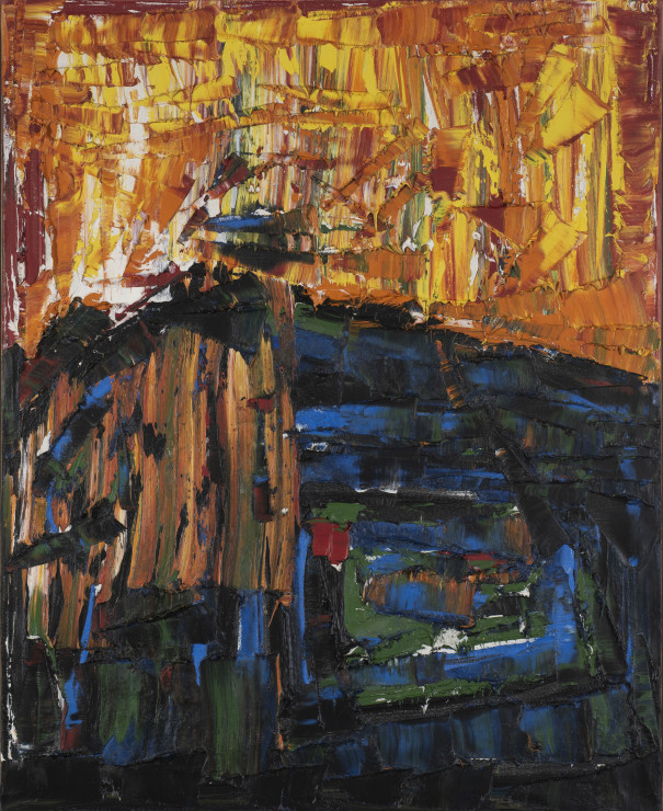 "<span class=""artist""><strong>Jean Paul Riopelle</strong></span>, <span class=""title""><em>Composition</em>, c.1974</span>"